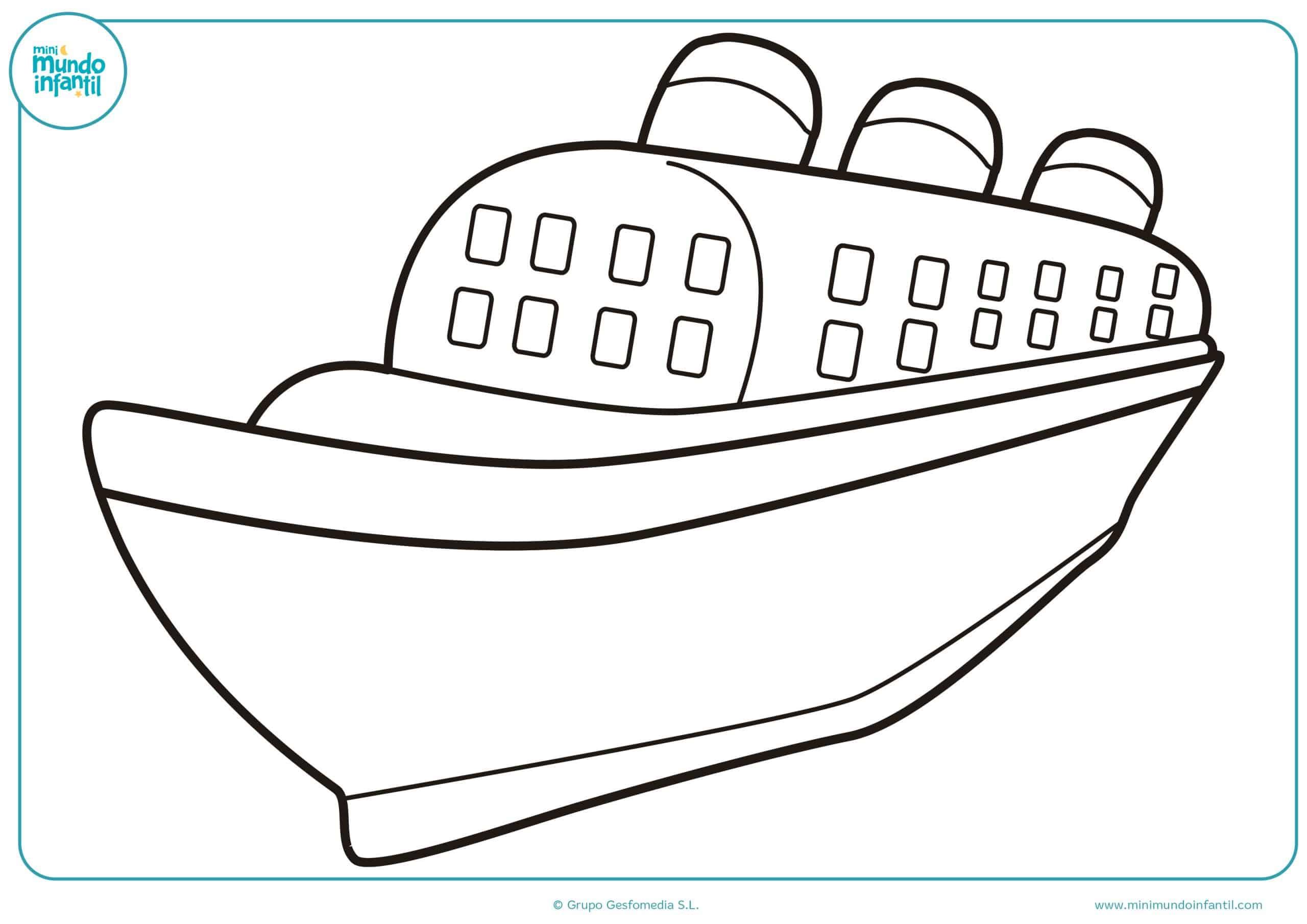 Colorear dibujos barcos