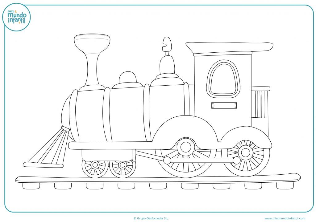 Pinta el tren de juguete de colores