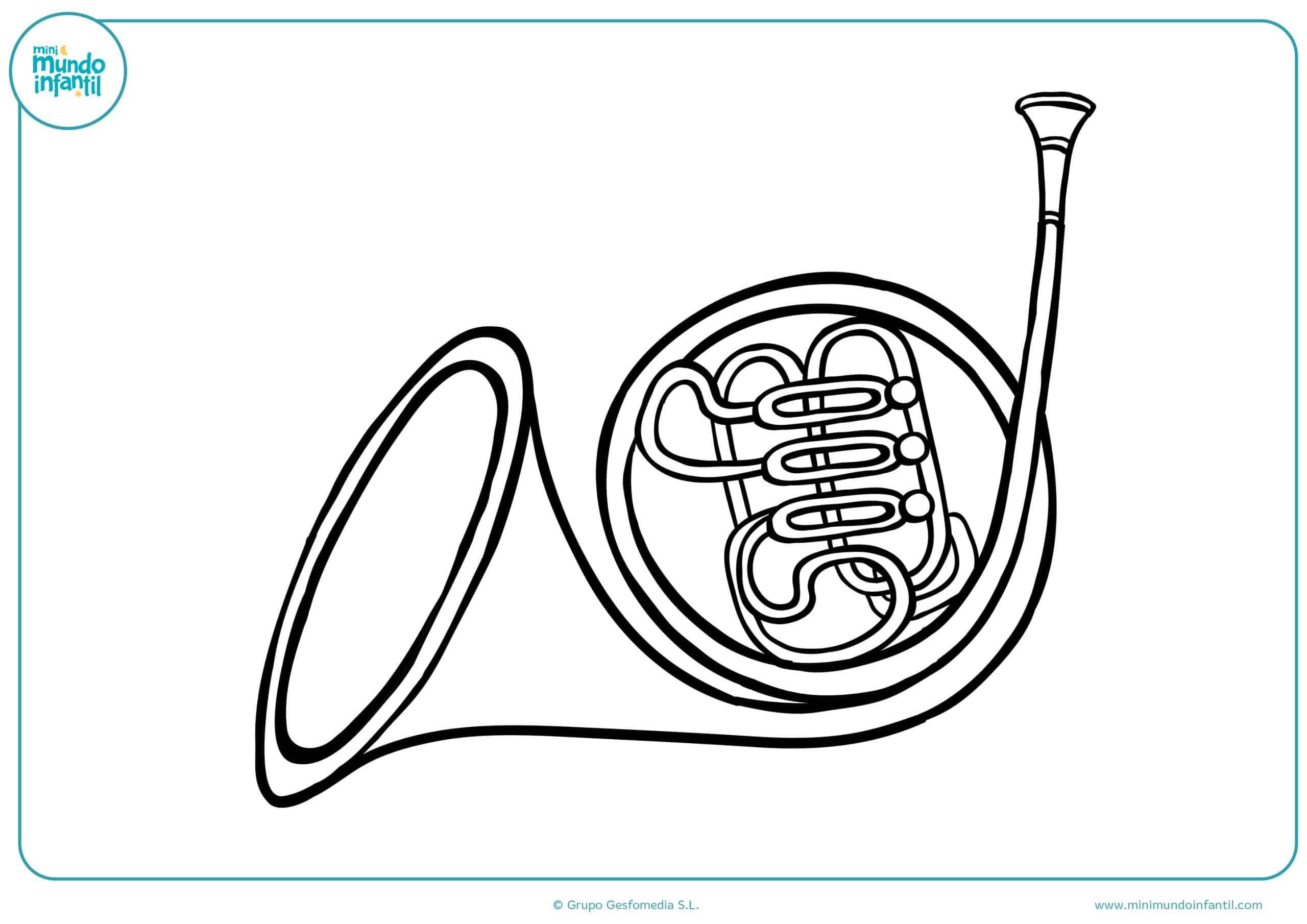 Dibujos instrumentos musicales colorear infantiles