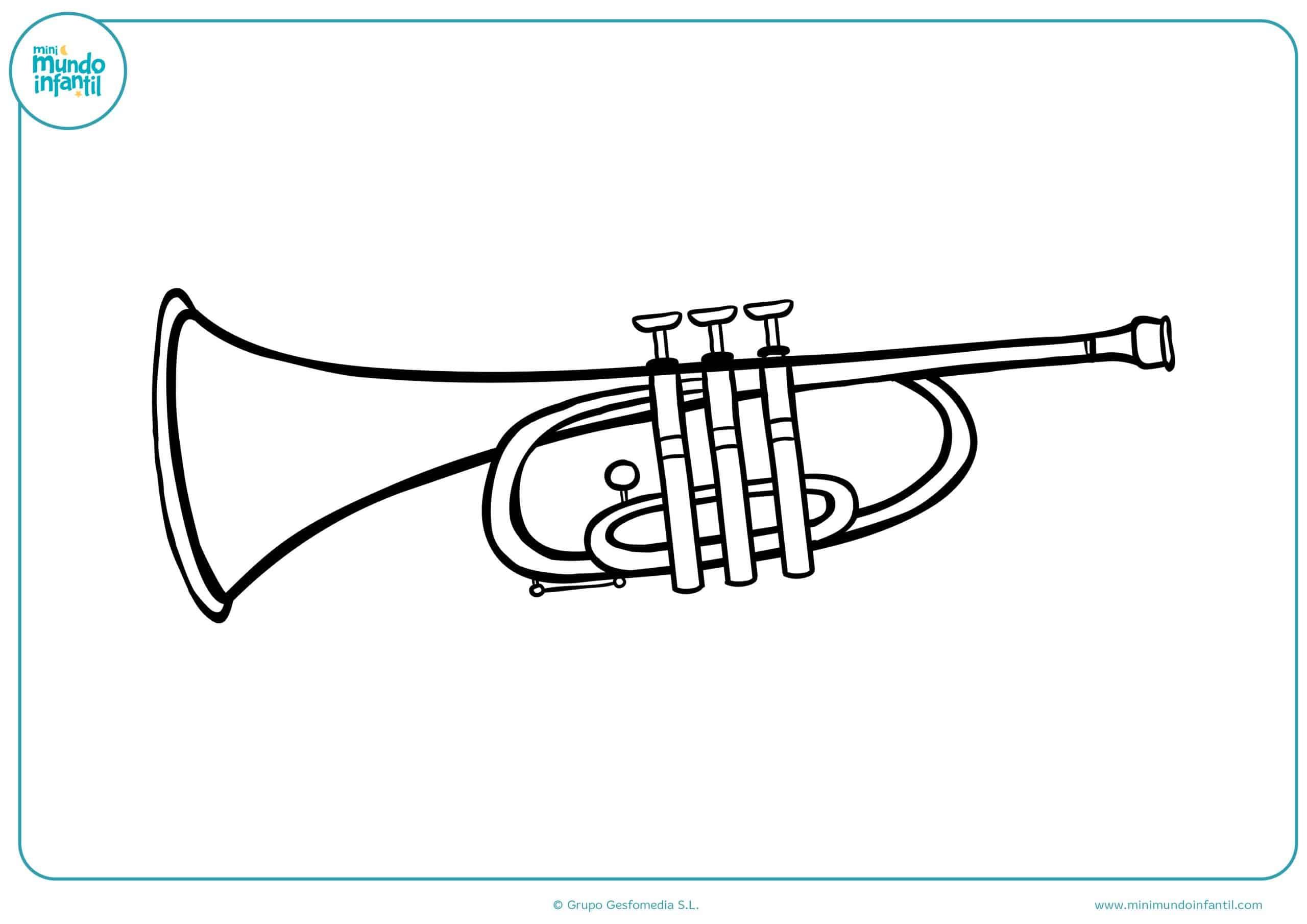 Dibujos colores instrumentos musicales primaria