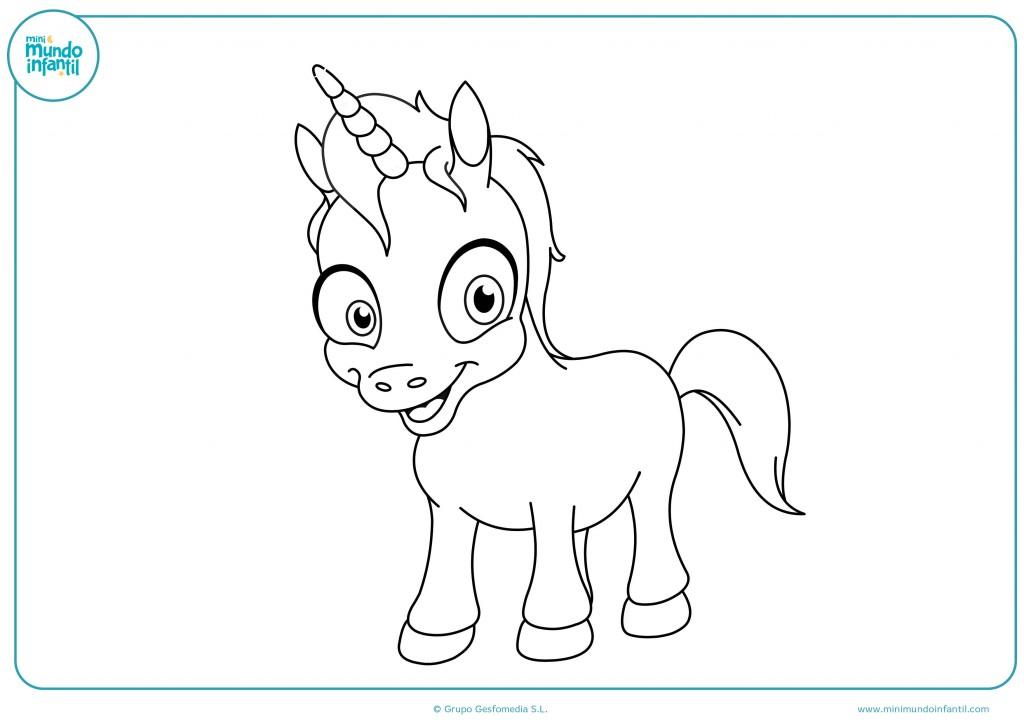 Pinta de colores el dibujo del unicornio