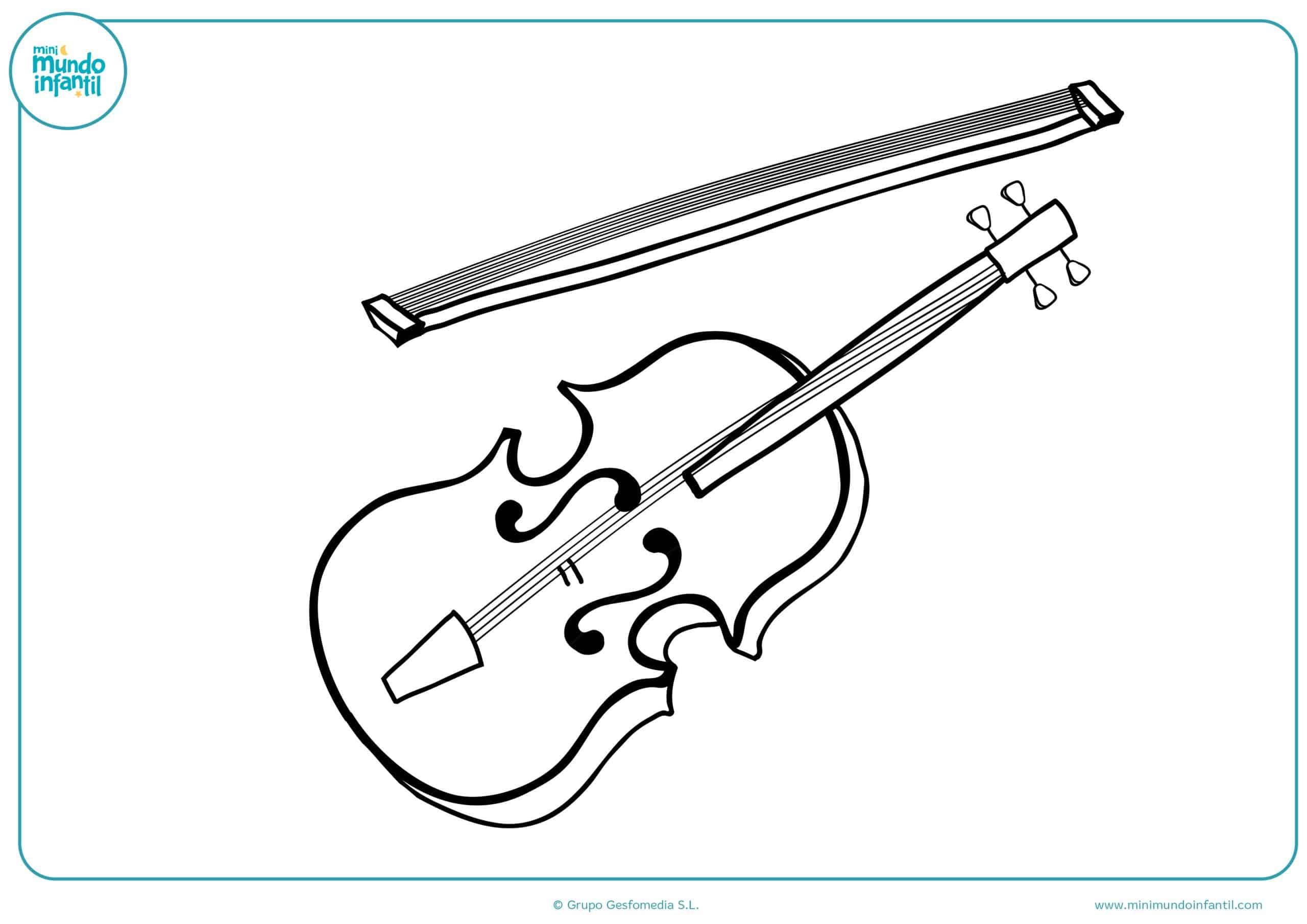 Dibujos instrumentos musicales colorear para imprimir