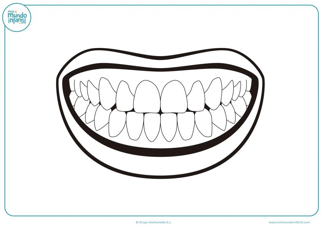 Colorea este dibujo de una boca