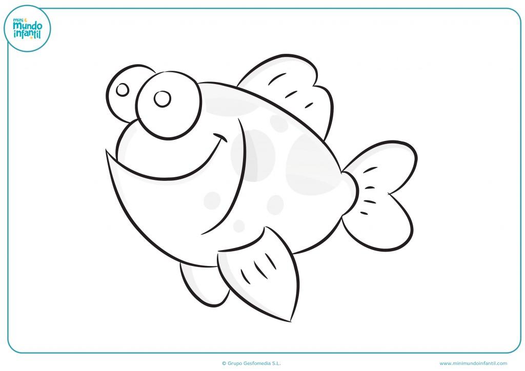Pinta con ceras este alegre pez de ojos saltones