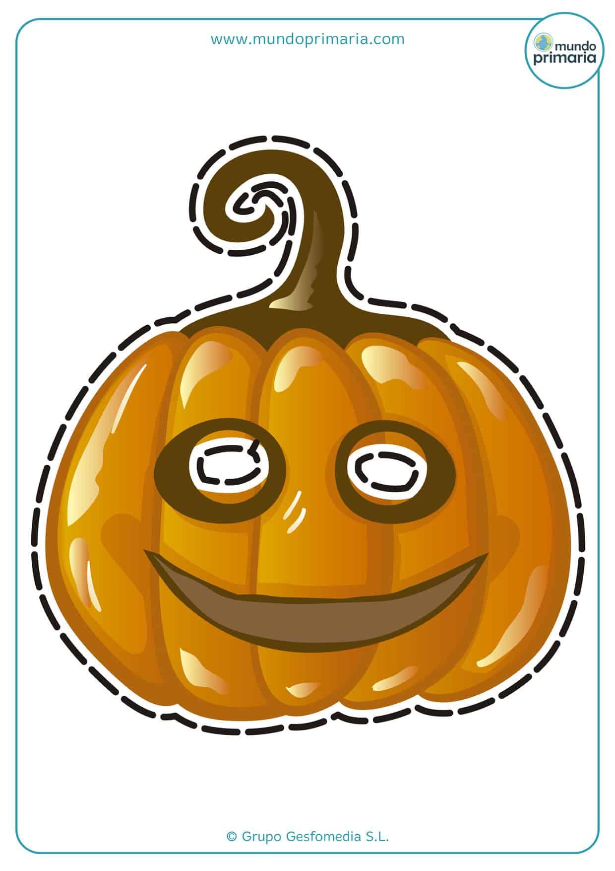 ¡Mira que careta de calabaza de Halloween tan aterradora!