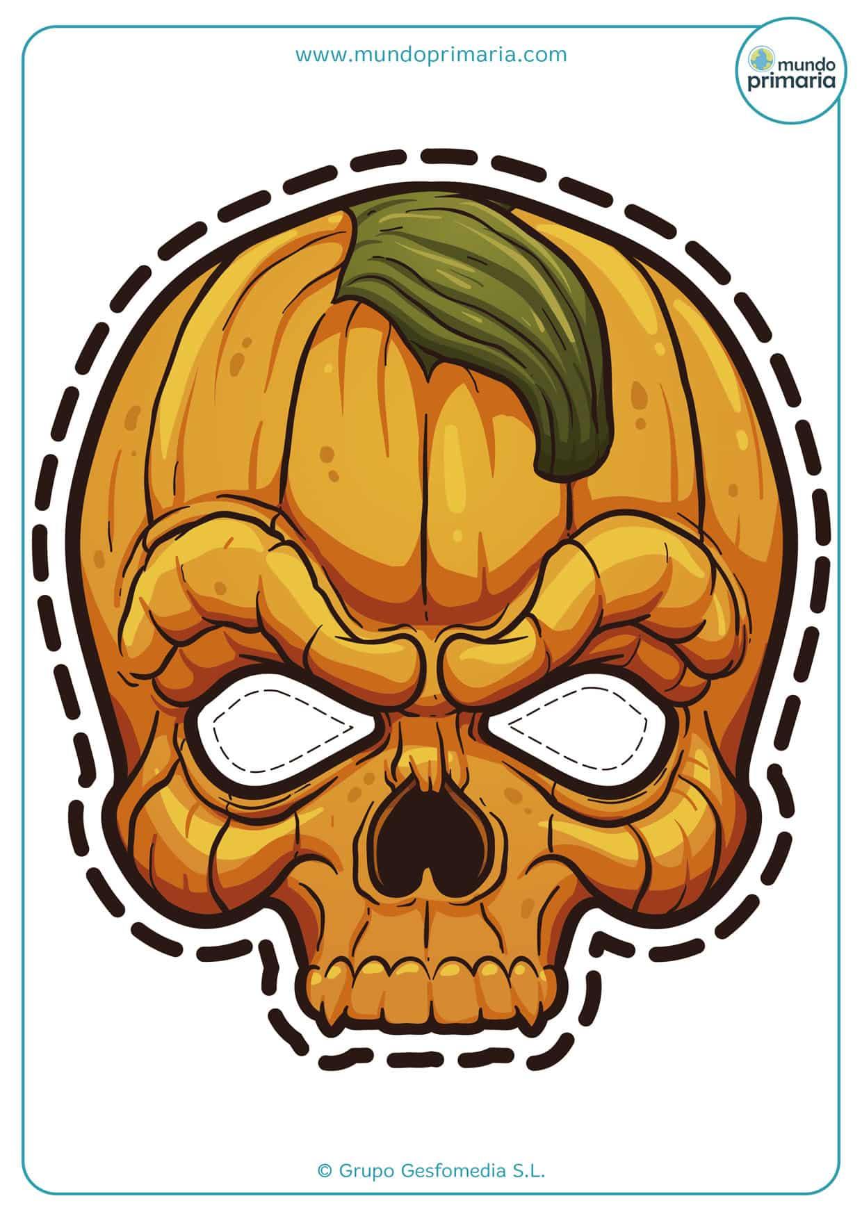 Terrorífica calabaza para Halloween de muerte.