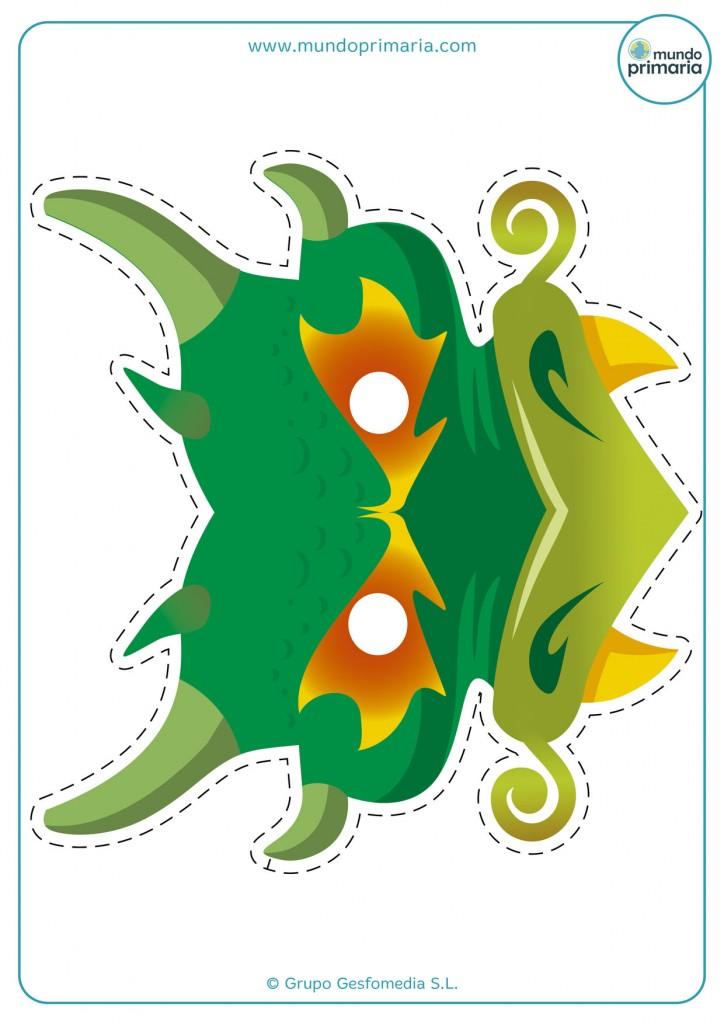 Careta de un dragón temible