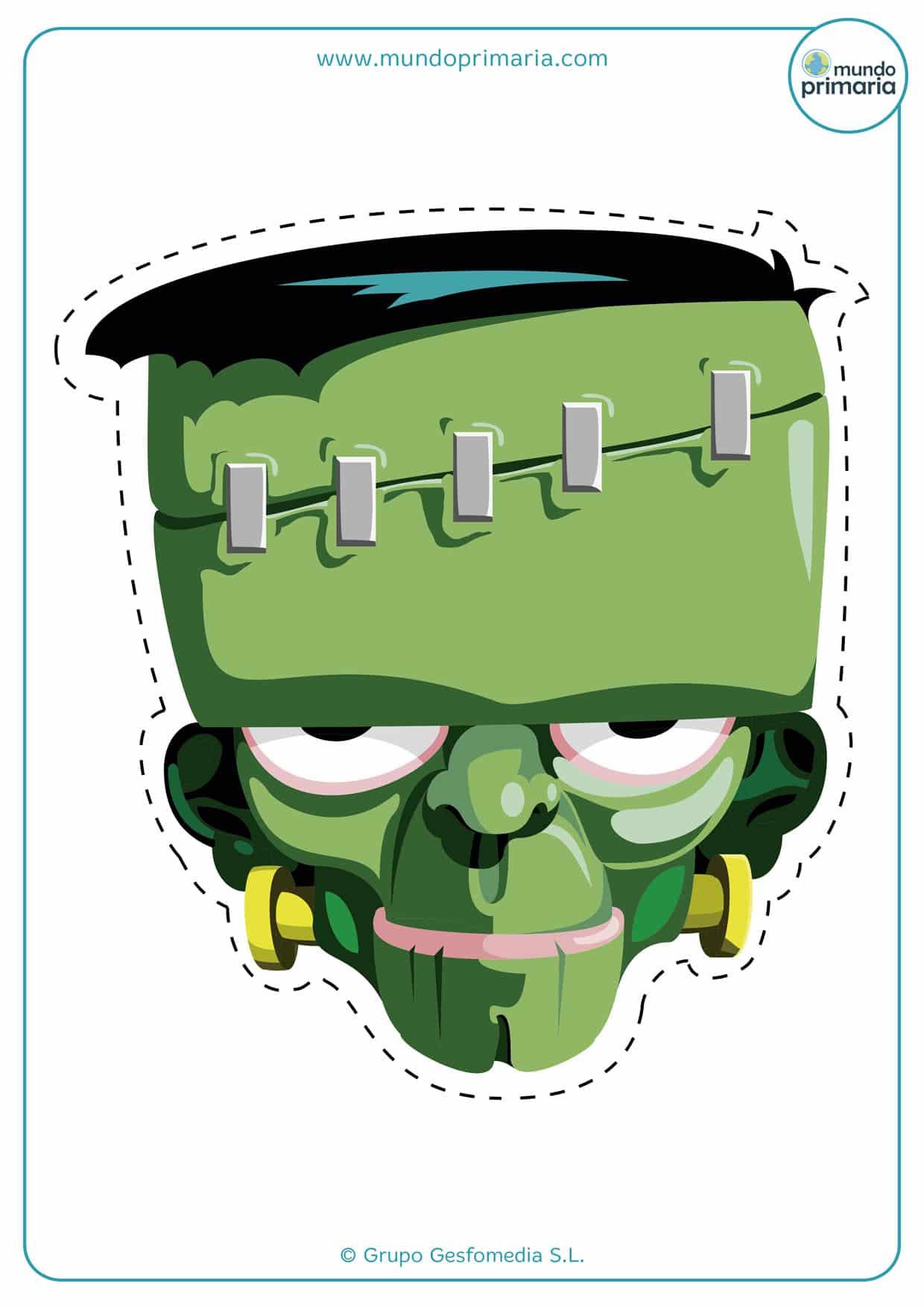 careta del monstruo de Frankenstein verde