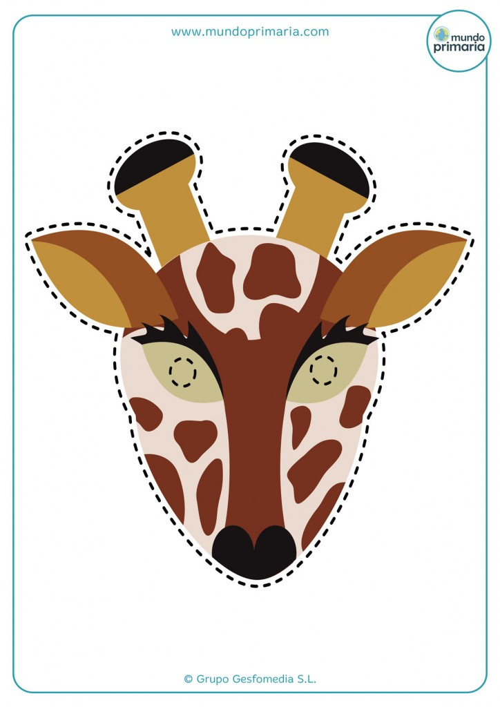 Careta para disfraz casero de jirafa