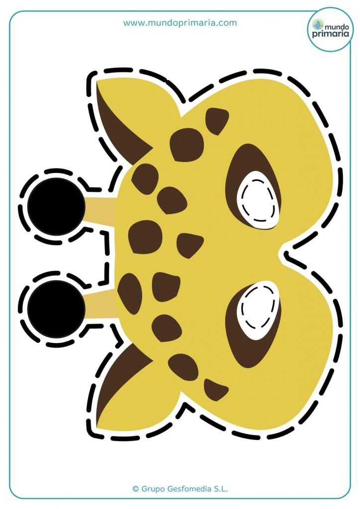 Caretas de animales: la jirafa
