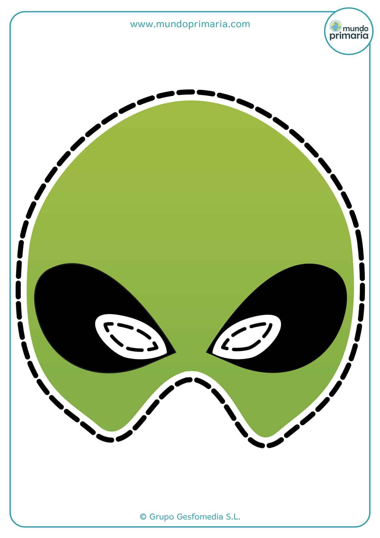 Máscara de alienígena para viajar al espacio