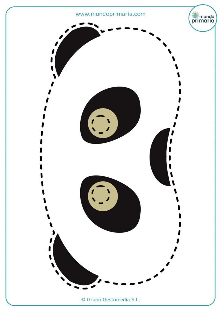 Adorable careta de oso panda para imprimir