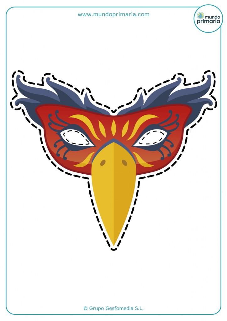 Máscara veneciana para imprimir con colores