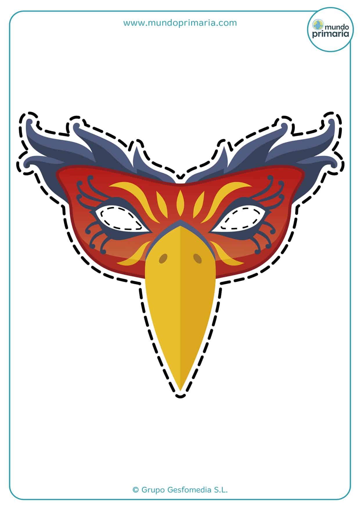 colorida máscara veneciana para imprimir