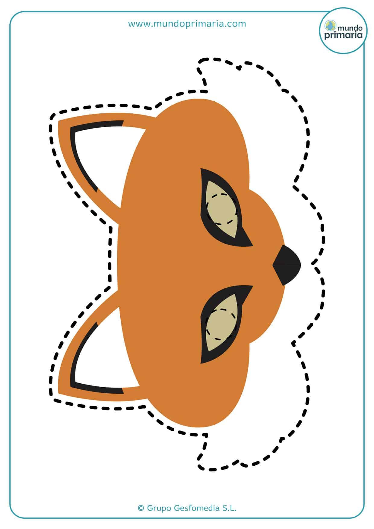 Caretas de animales: el zorro