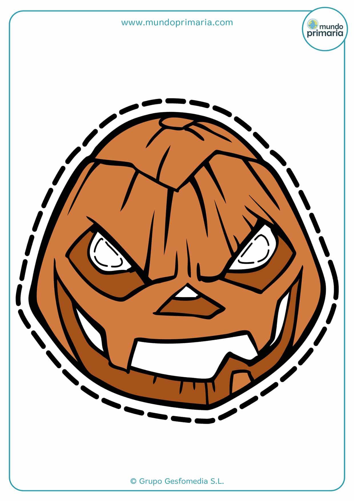 Imprime esta calabaza de Halloween y asusta a todos con ella