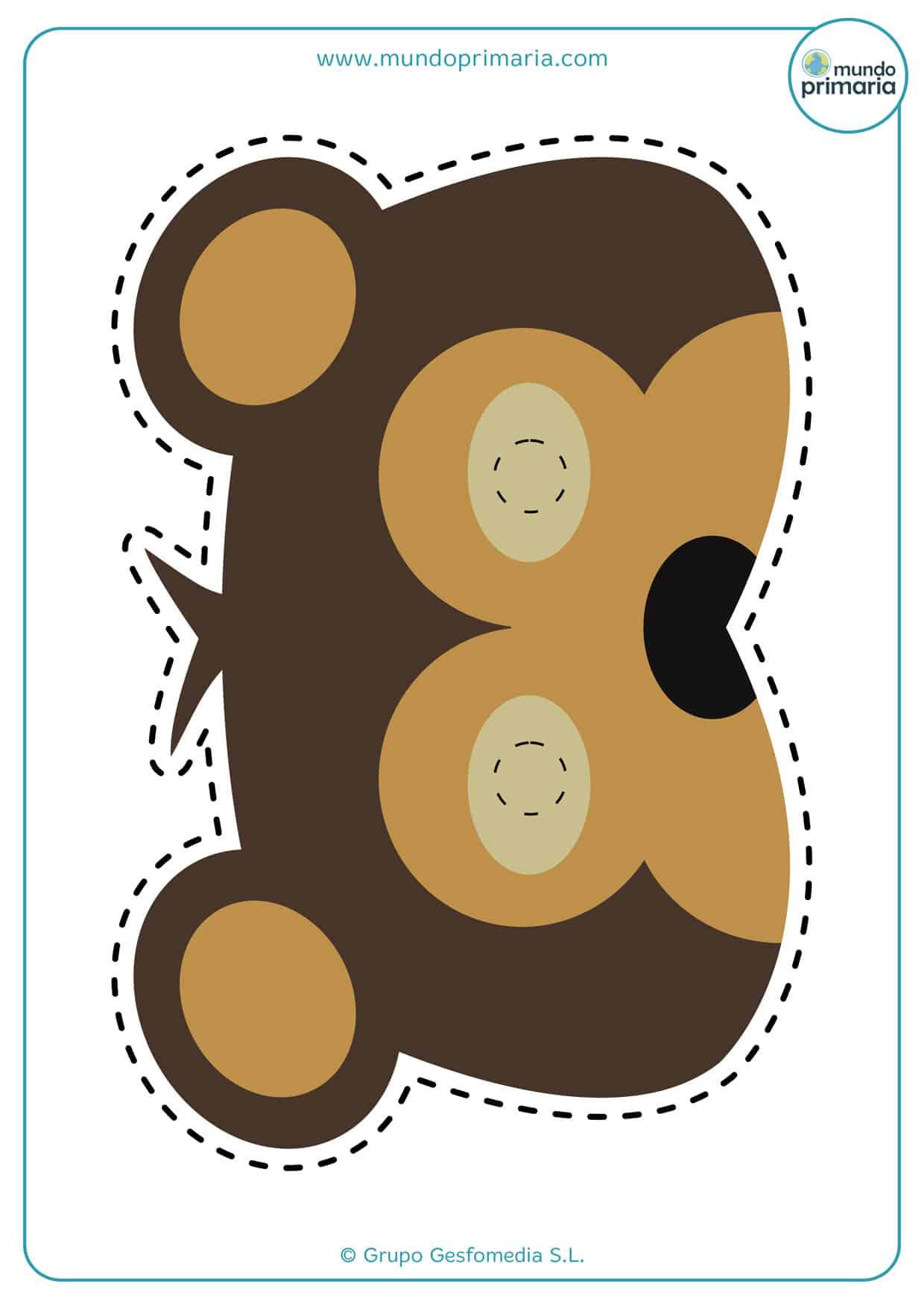 Genial careta de osos para imprimir
