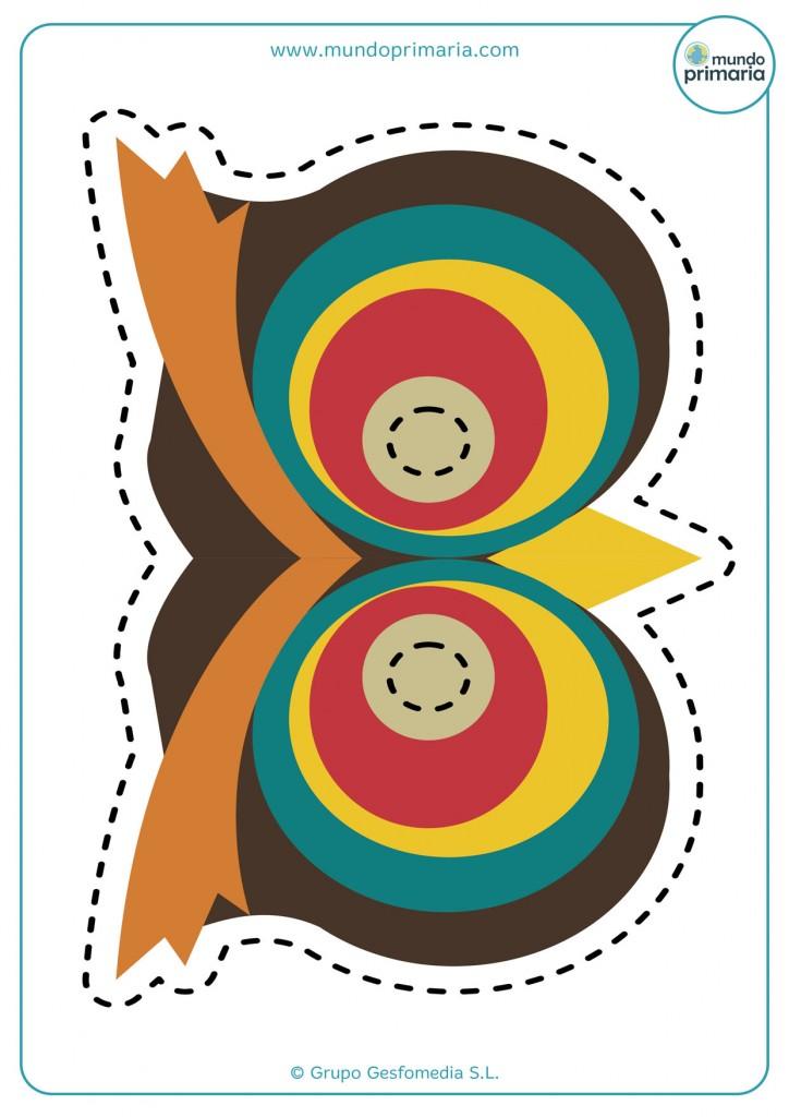 Careta de búho de colores