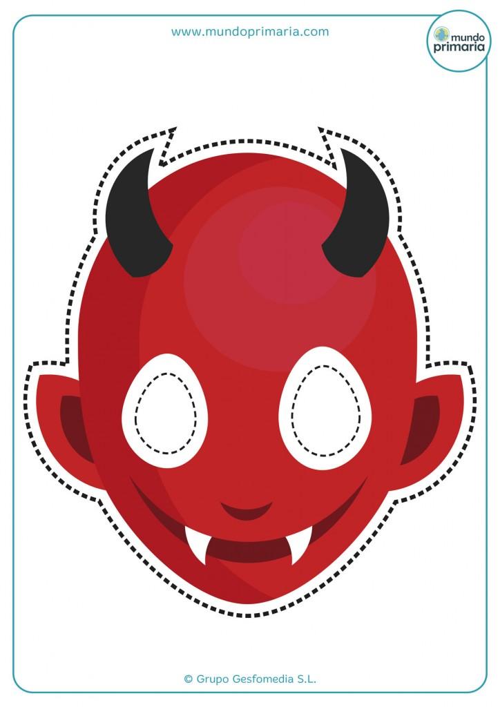 Careta de diablo con cuernos
