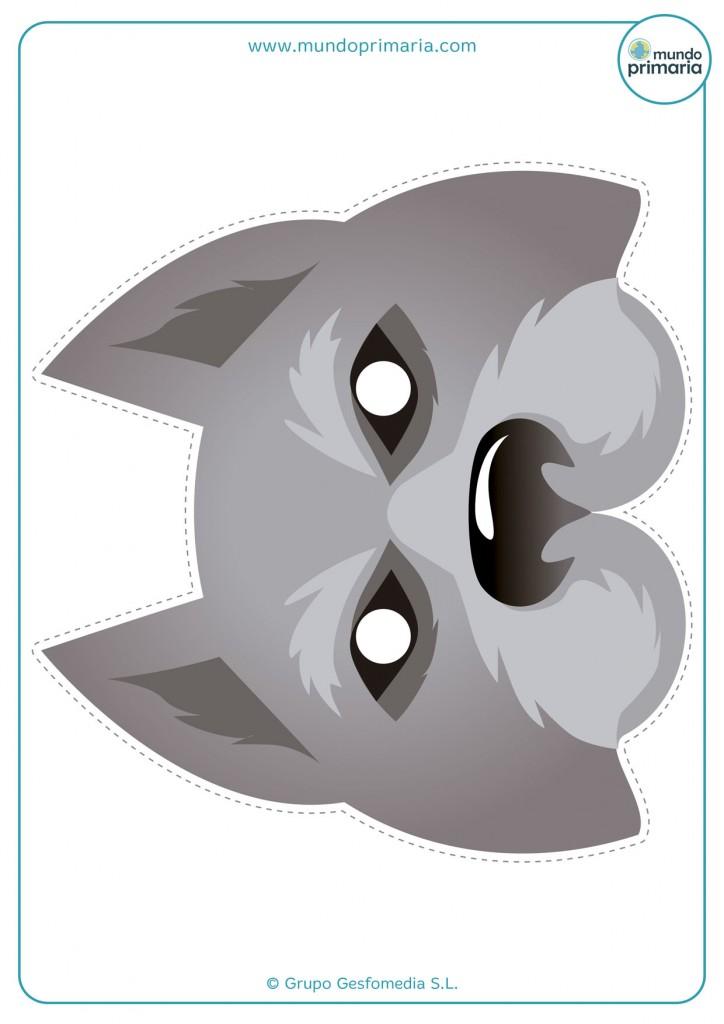Careta de hombre lobo para imprimir en Halloween