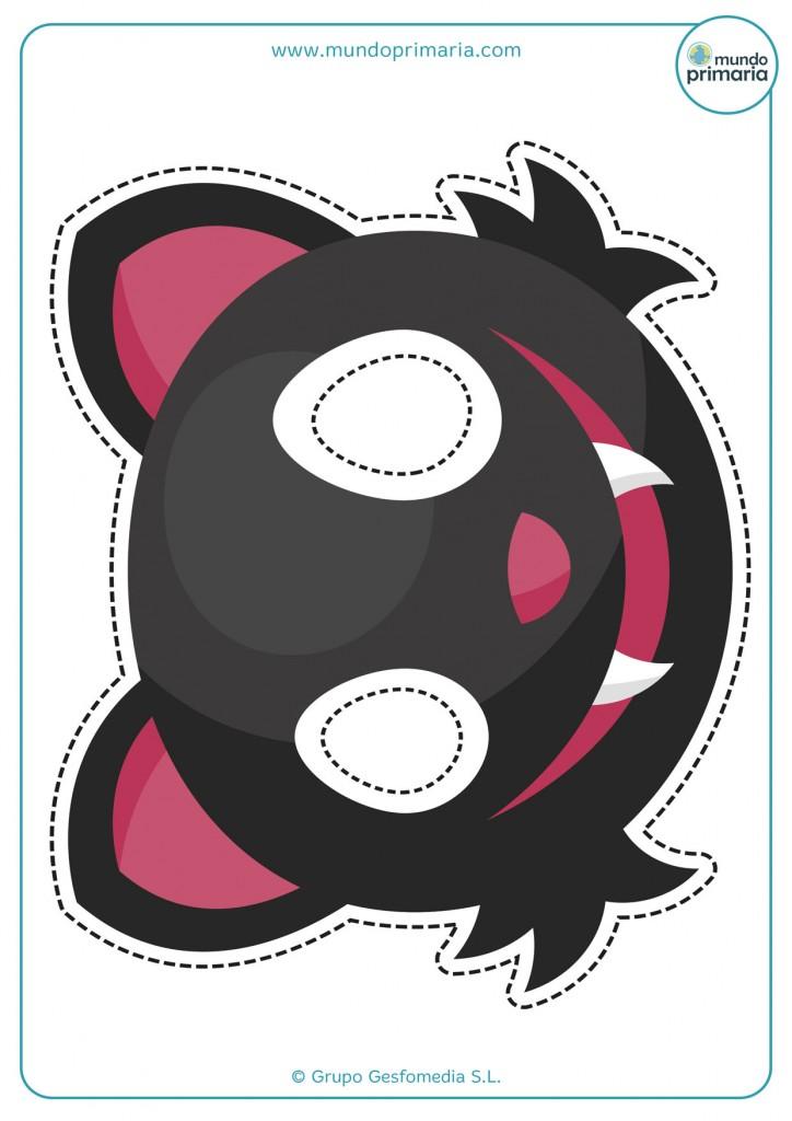 Careta de gato negro de la mala suerte