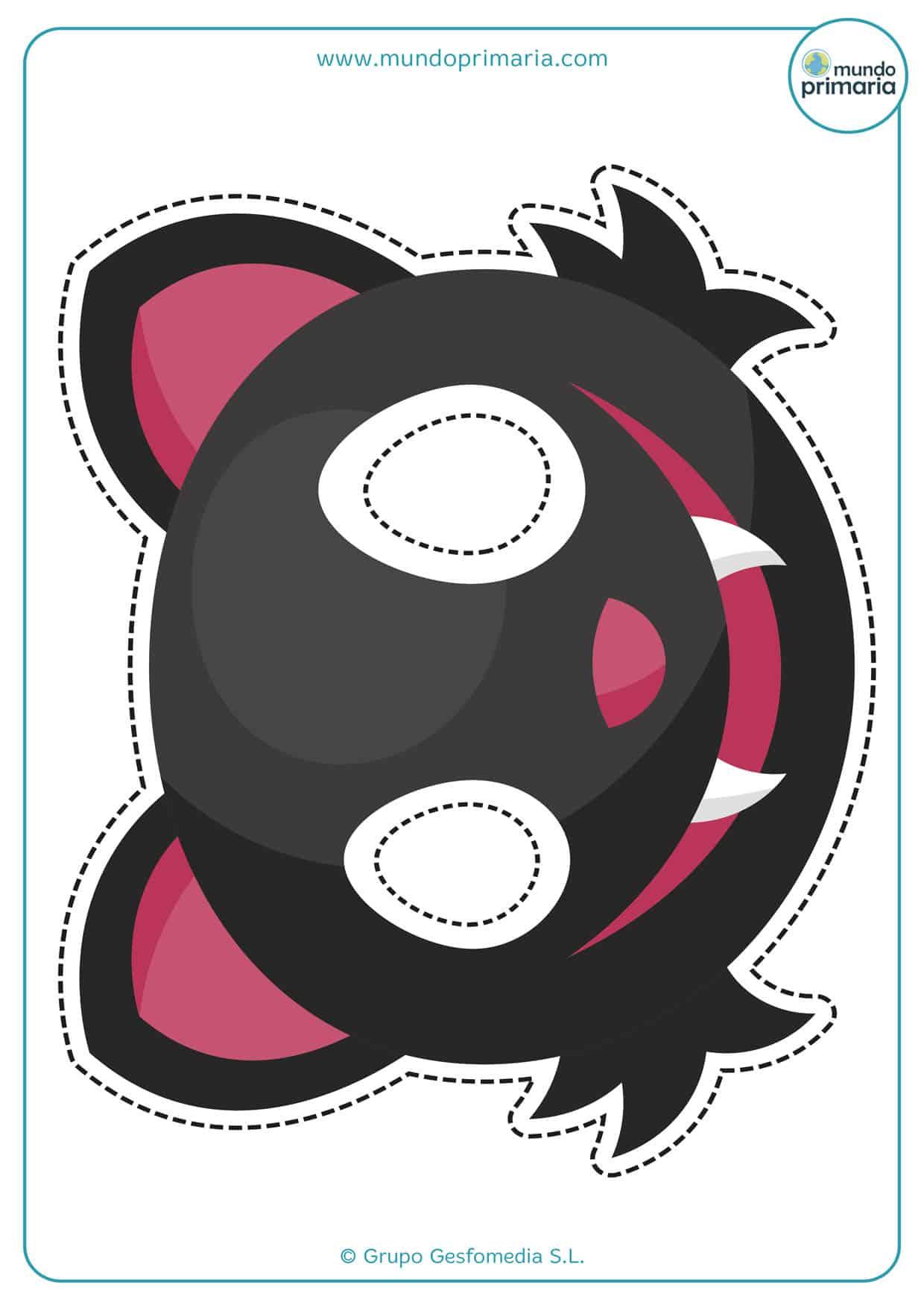 careta de gato negro para disfrazarte de animales