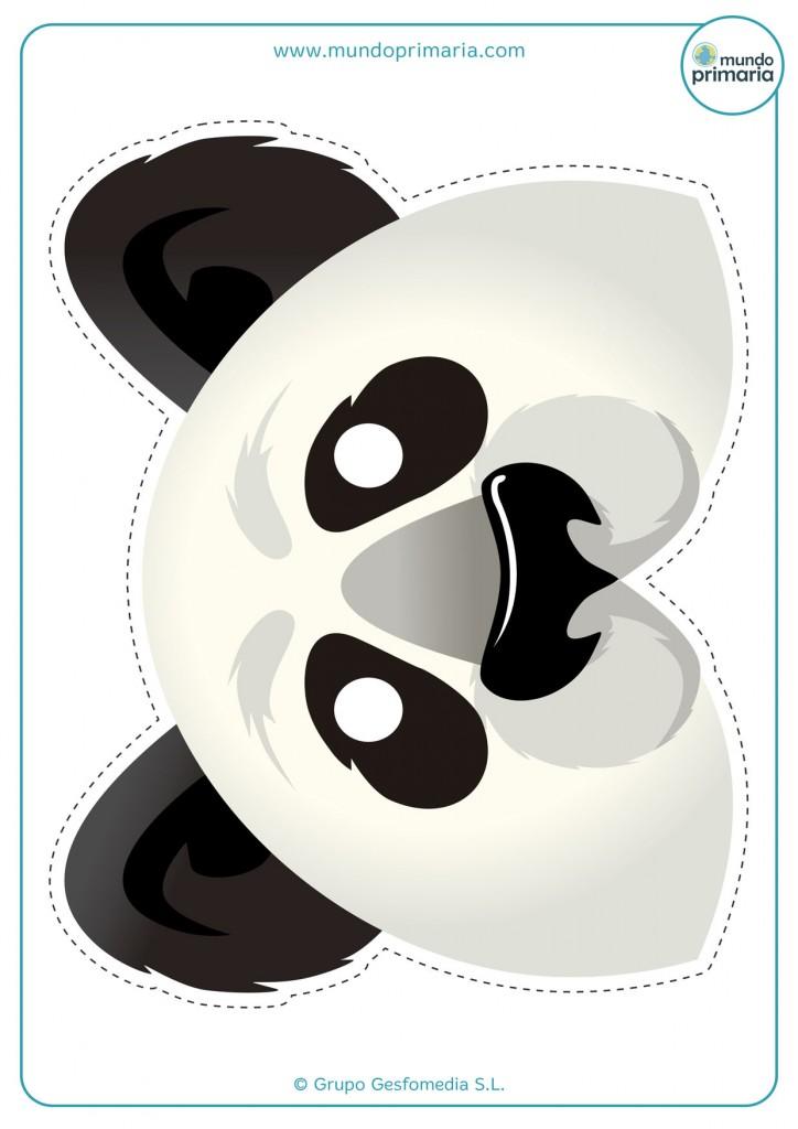 Careta de oso panda para imprimir en casa