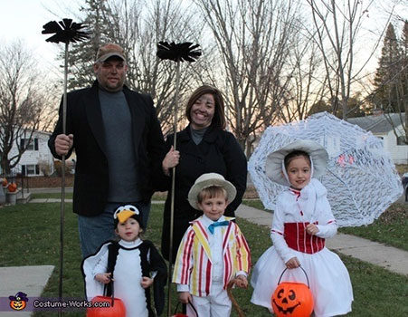 Disfraz de Halloween para la familia