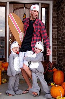 Familia disfrazada en Halloween