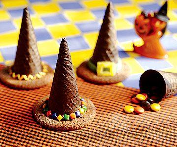 Sombreros de bruja para comer