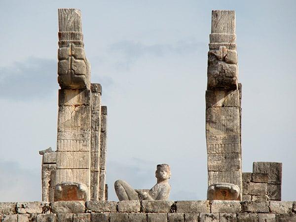 Chac Mool en el Templo de los Guerreros kukulkán