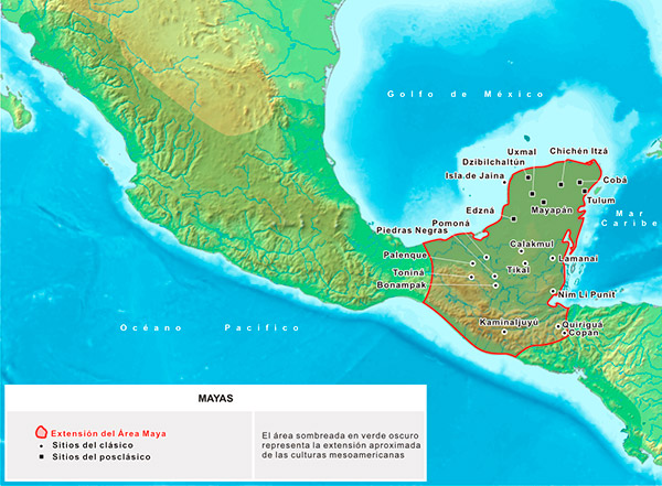 Mapa de Mesoamérica-kukulkán