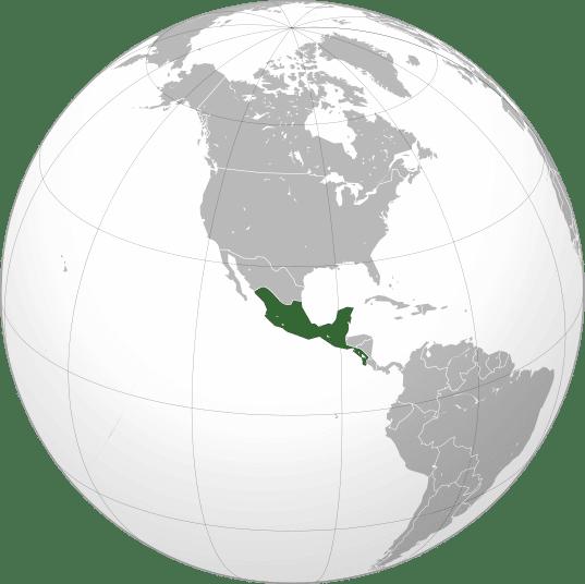 Situación Mesoamérica en el mundo kukulkán