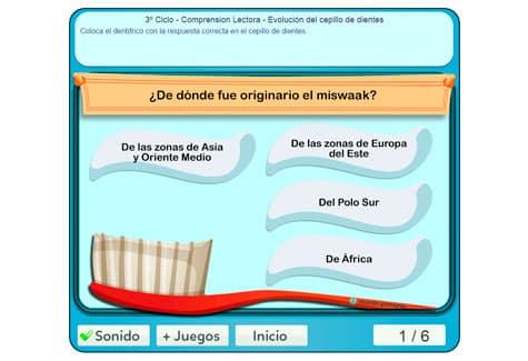 Paso 2: seguir las indicaciones del juego sobre el cepillo de dientes
