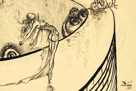 Boceto para la película Destino - Salvador Dalí