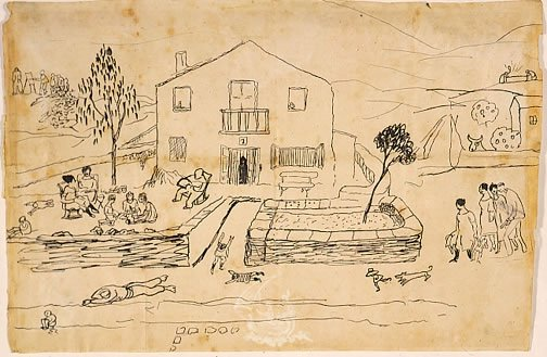 Dibujo de Salvador Dalí