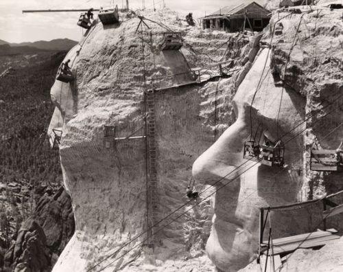 Construcción en el Monte Rushmore