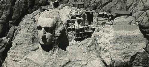 Obras en el monte Rushmore