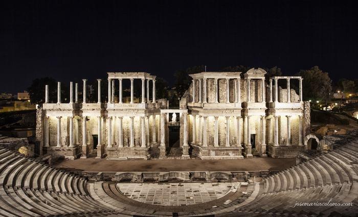 Teatro romano de Mérida - Acueducto de Segovia