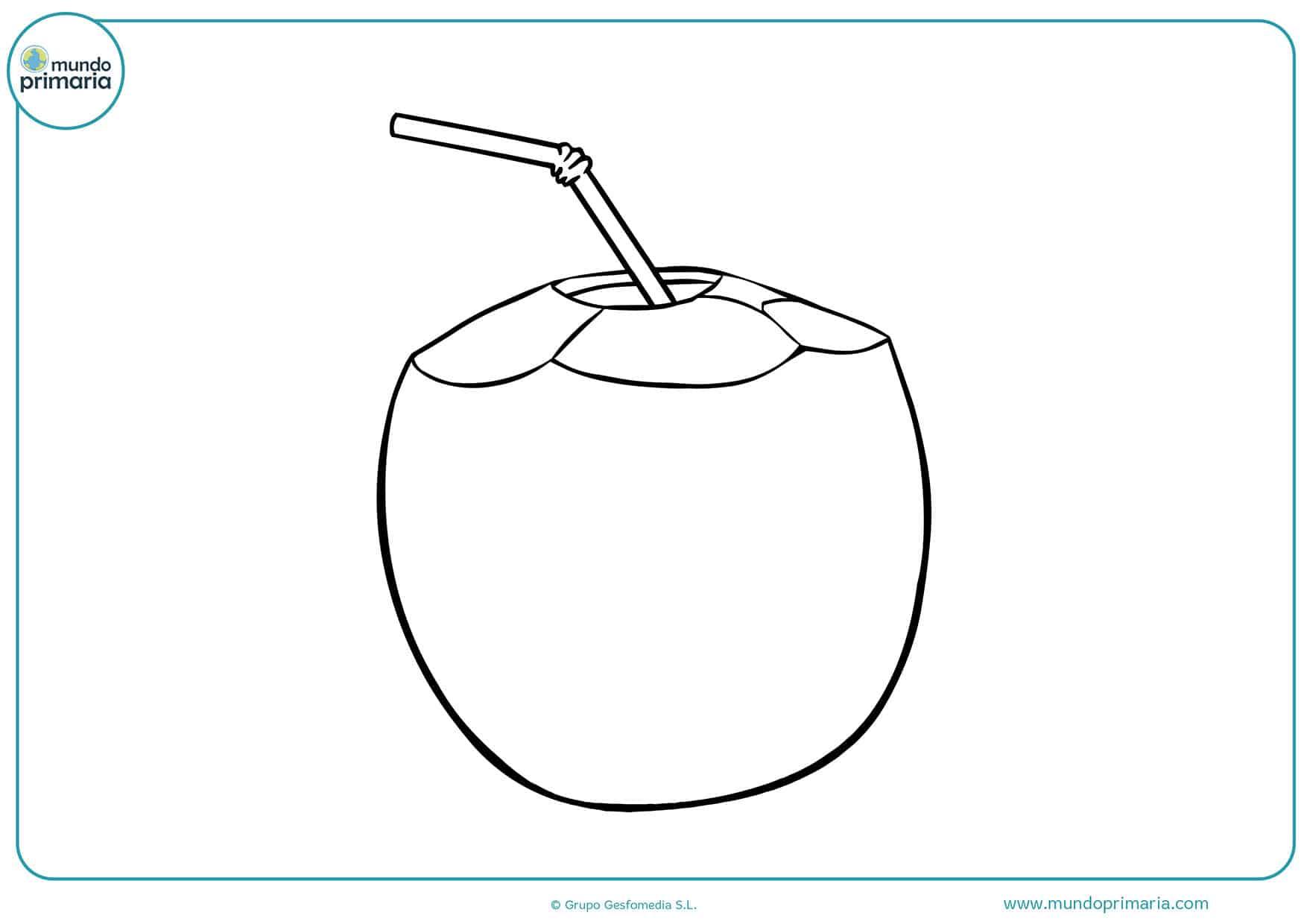 Dibujos colorear bebidas niñas