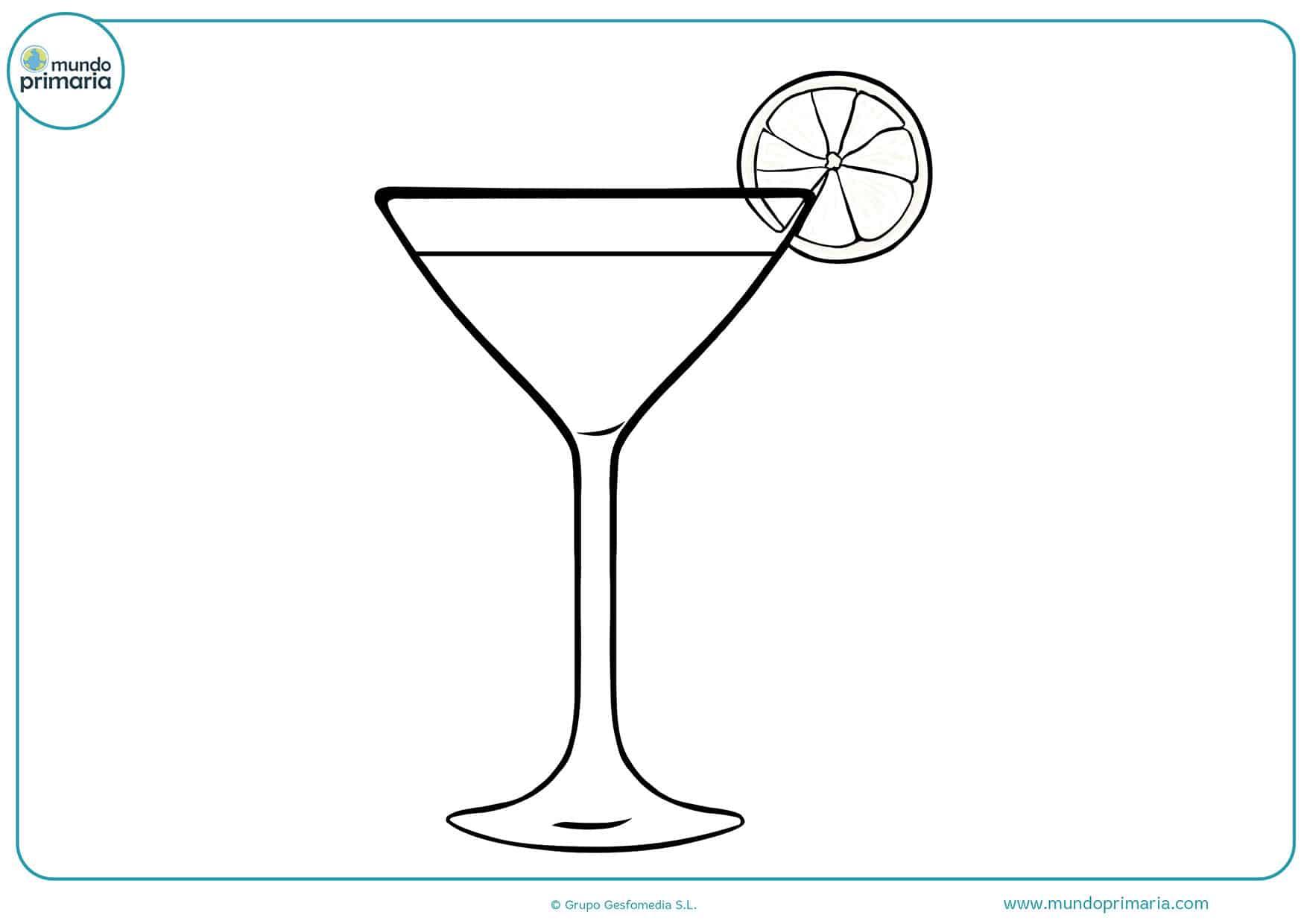 Dibujos colorear bebidas primaria