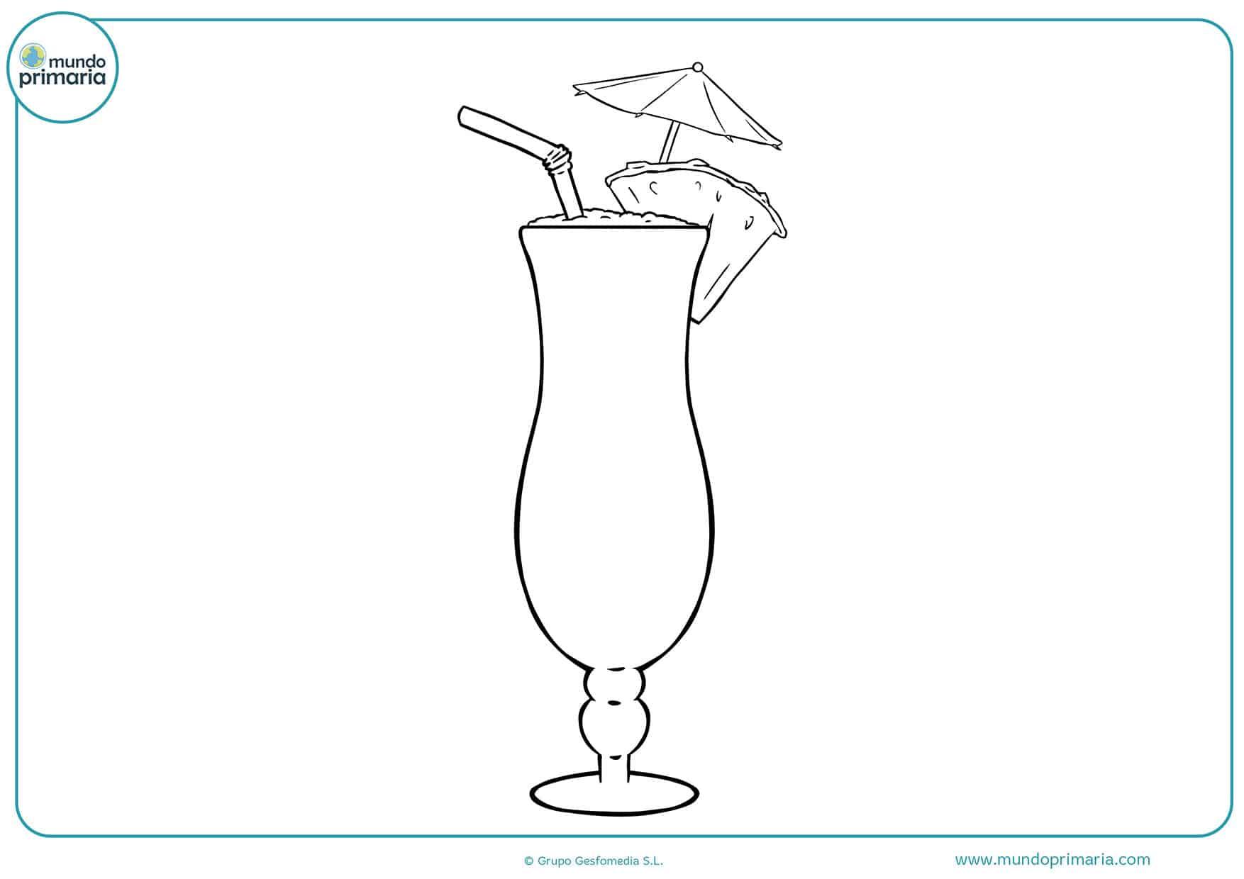 Dibujos Animados Para Colorear: Dibujos De Bebida Para Colorear