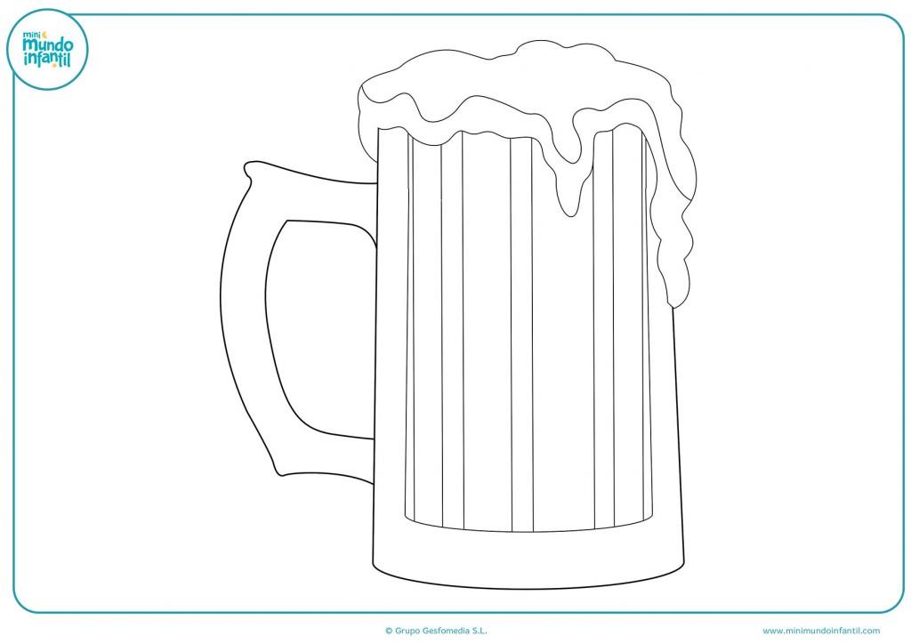Dibuja una cerveza con colores