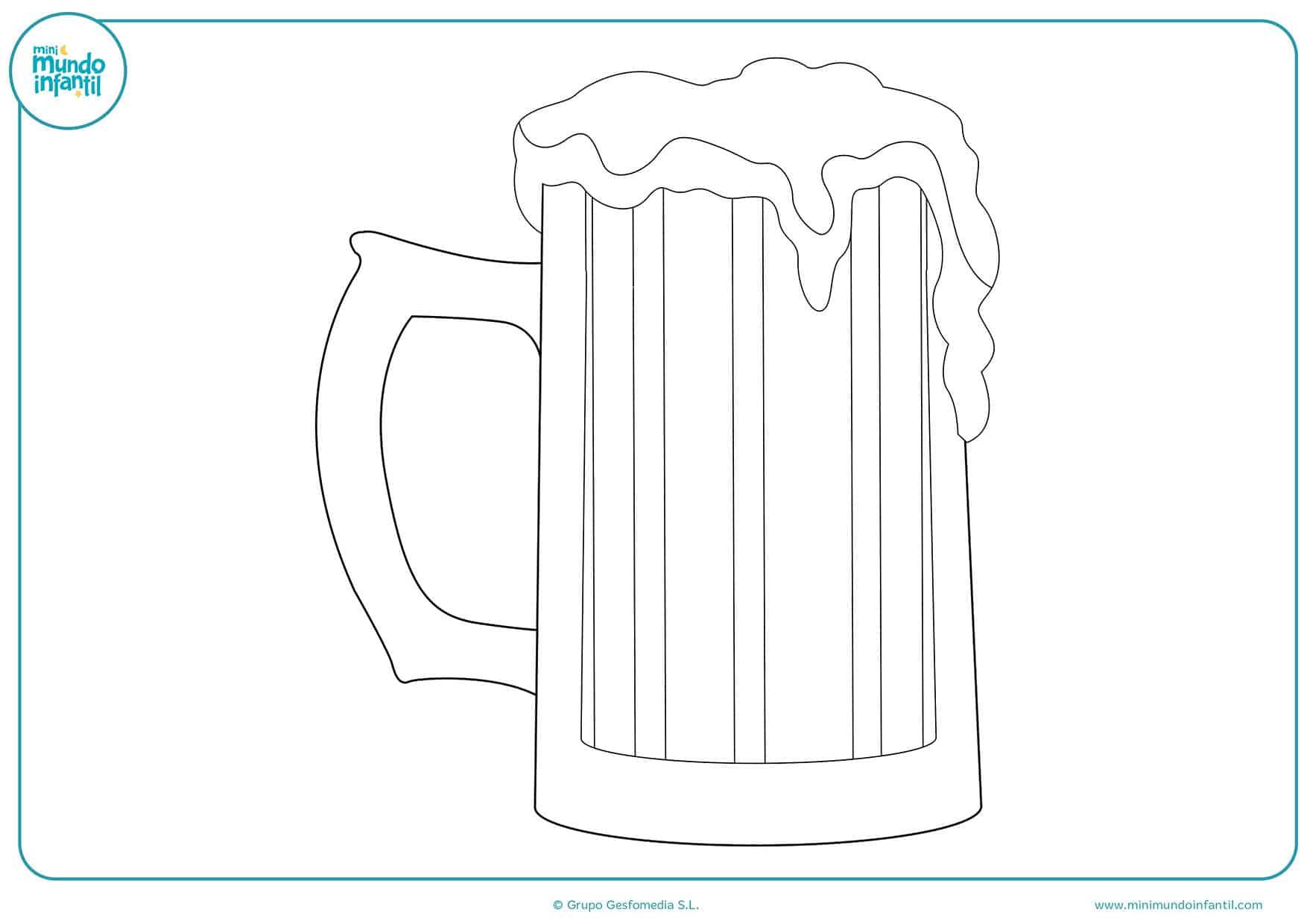 Imagenes Animadas Para Colorear: Dibujos De Bebida Para Colorear