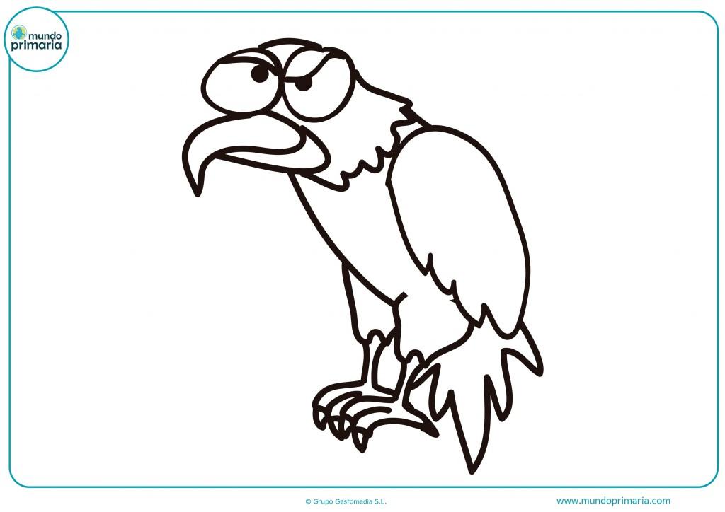 Colorea este águila y pinta su plumaje en muchos colores