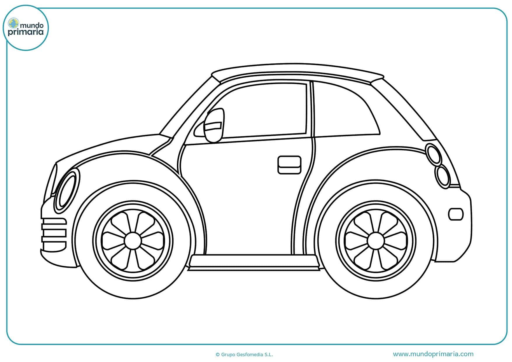 Dibujos de coches para colorear   Mundo Primaria
