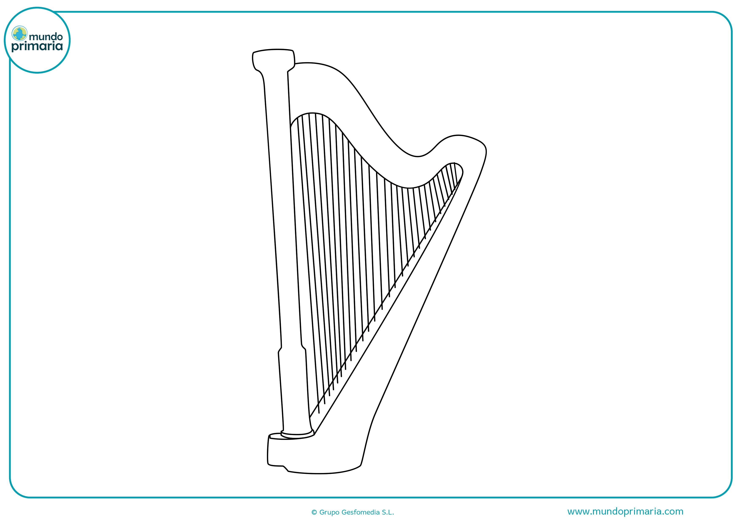 Dibujos instrumentos musicales para pintar