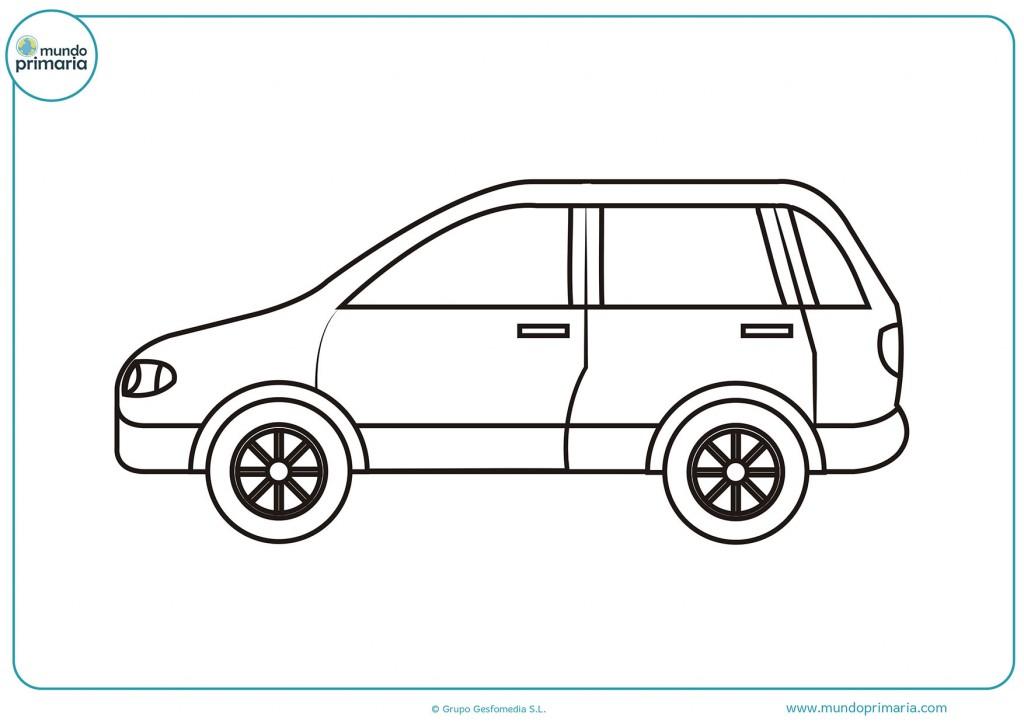 Pinta el dibujo del auto de perfil