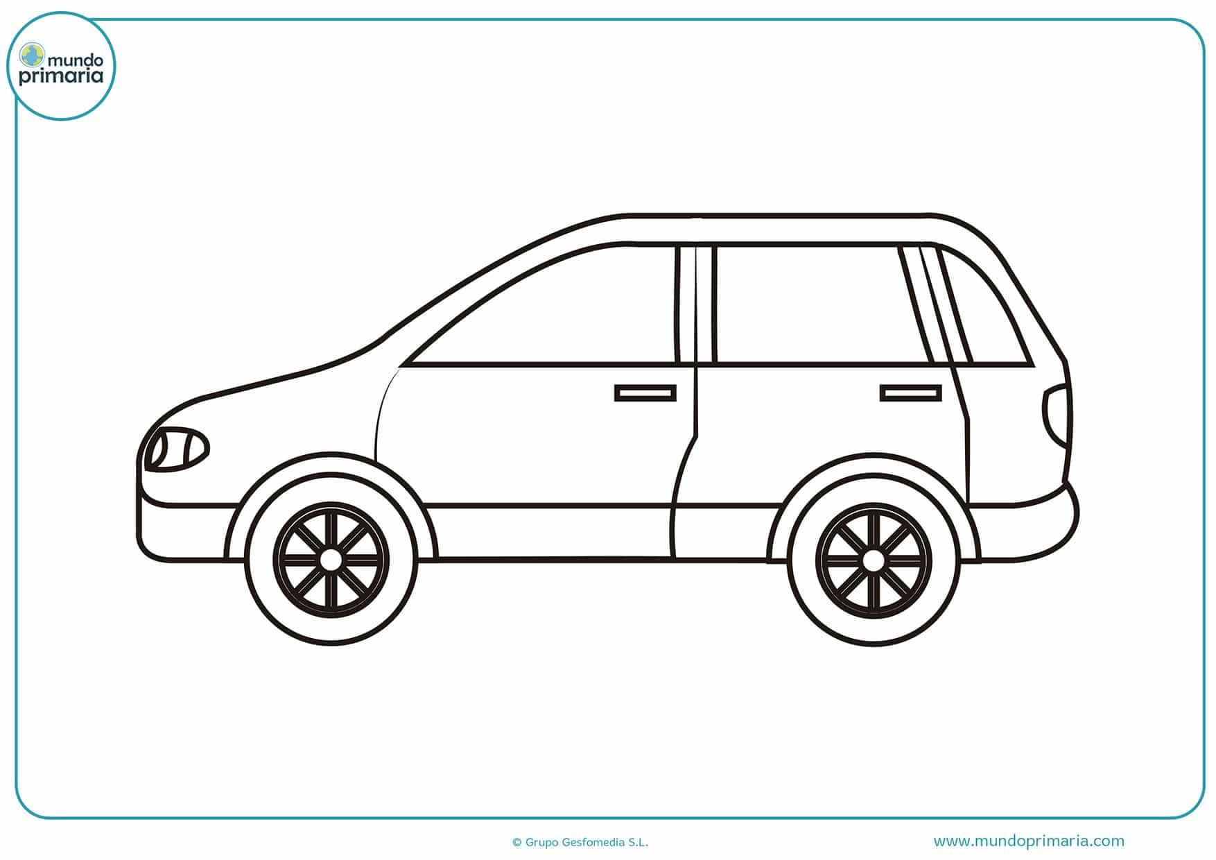 Dibujos colorear coches niños