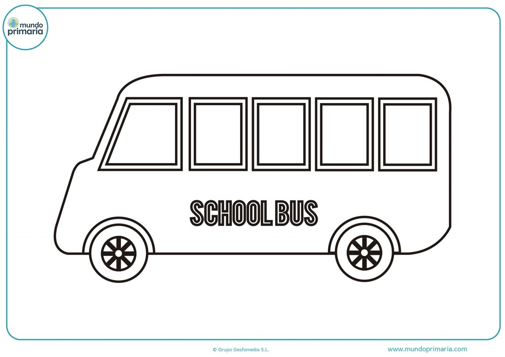 Colorea el bus donde están los estudiantes